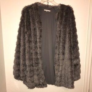 Tularosa Faux Fur Gray Jacket